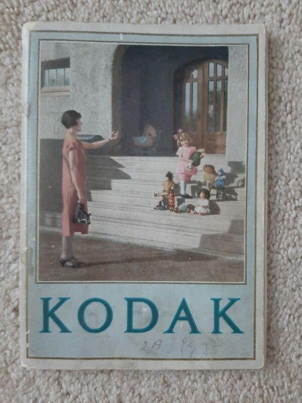 Vintage 1926 Kodak Cameras 64 Page Manuel