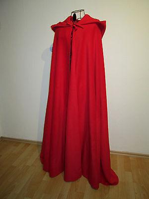 Rotkäppchen warmer Umhang mit spitzer Kapuze rot Cape - Roter Umhang Kostüme