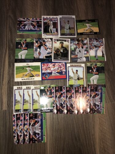 Javier Vazquez Lot Of 25 White Sox, Expos, Diamondbacks 12 Different Cards Base - $2.50