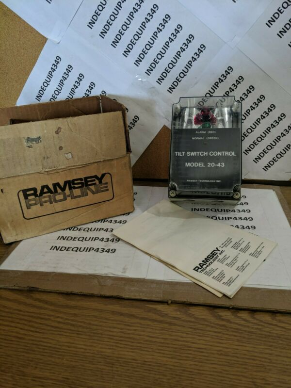 NEW Thermo Scientific Ramsey Model 20-43 Pro-Line Tilt Switch Control Unit 115V