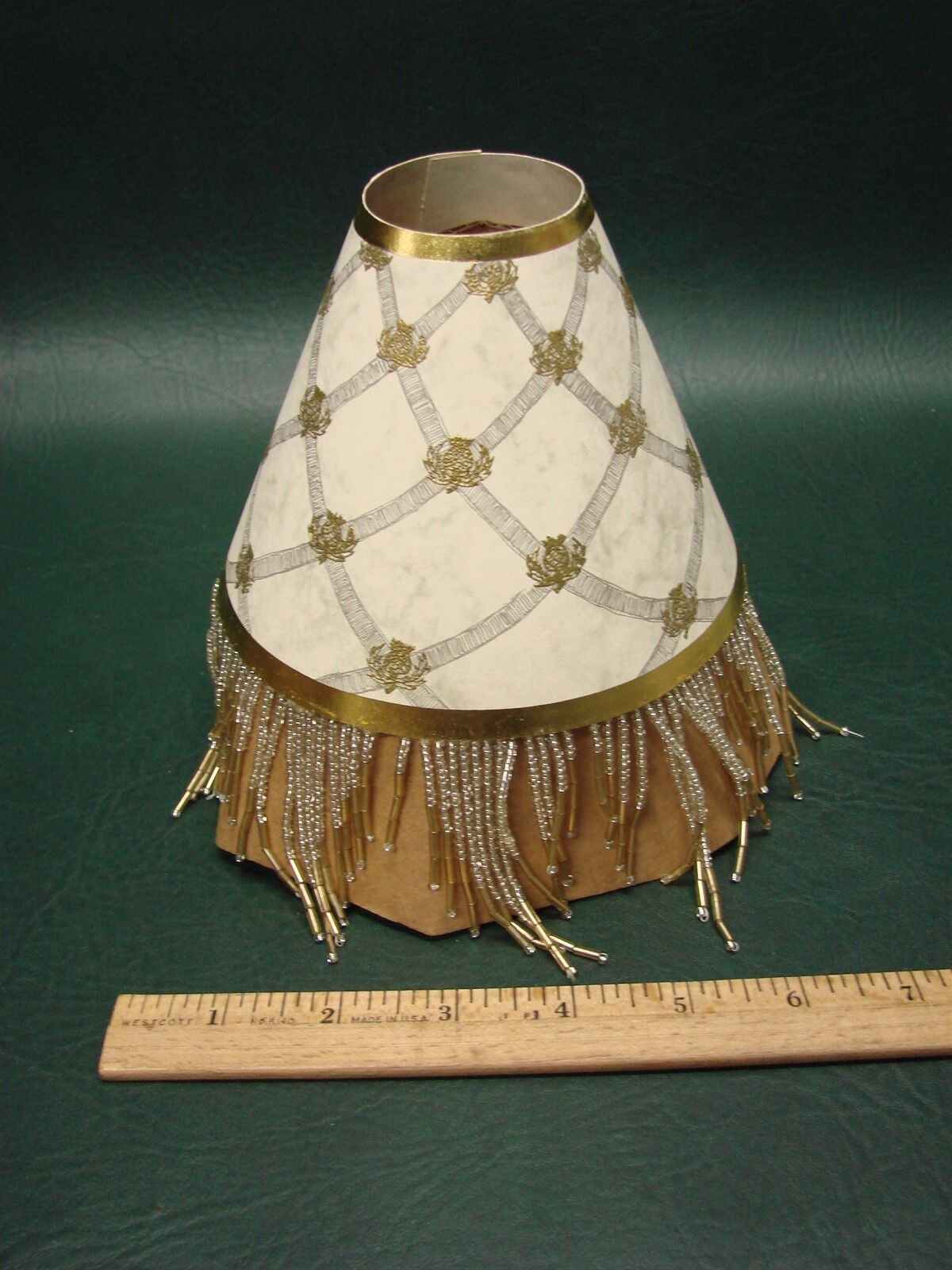 Lamp shades lamps lighting ceiling fans men mackenzie childs back hall beaded retired paper shade chandelier arubaitofo Image collections