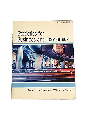 Statistics for Business and Economics: 13th Special Edition: Anderson,