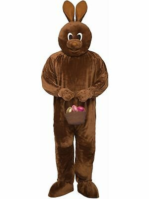 Chocolate Brown Rabbit Easter Bunny Mascot Costume Animal Soft Fun Fur Adult STD