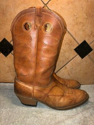 Acme Brown Leather Cowboy Western Boots Sz 12 D FREE SHIPPING