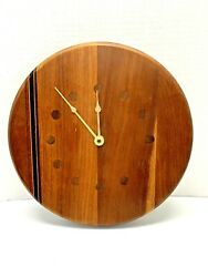 Exotic wood WALL CLOCK cherry Artisan Made ONCE A TREE Camden Maine Vermont art