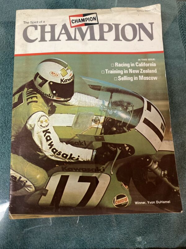 1973 Champion Magazine with Road Racing Yvon DuHamel on Cover