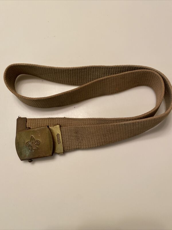 Older Style 35.5 Inch Adjustable Boy Scout Belt With Buckle