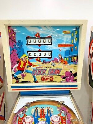 "D. Gottlieb ""QUICK DRAW"" PINBALL MACHINE   RESTORED TO PERFECTION WOW!!!"