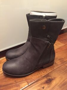 Grey military style boot