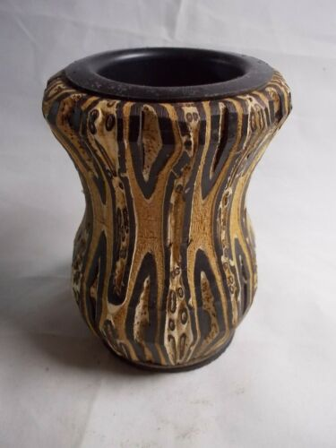 New Zealand PONGA VASE Unique Rare Hand Crafted UNREAL One Of A KIND -12