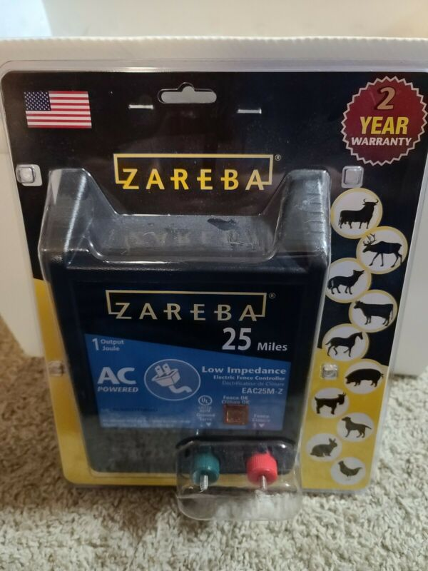 ZAREBA EAC25MZ 25 Miles AC Low Impedance Electric Fence Charger
