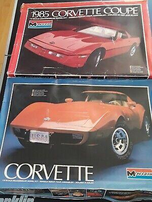 Two Corvette Model Car 1/8 Scale, 1978 & 1985