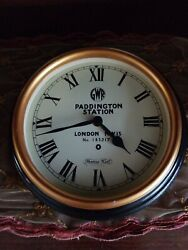 Paddington Station London Wall Clock Thomas Kent Black  Antique  Vintage