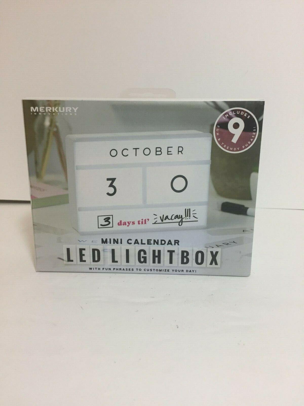 Merkury Innovations Mini Calendar LED Lightbox - NIB