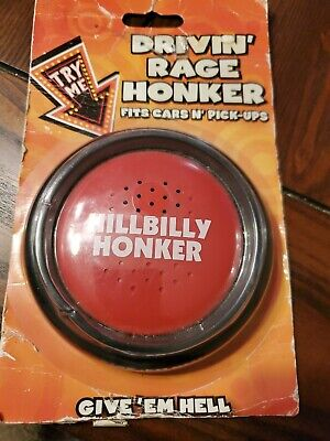 HILLBILLY REDNECK honkerdrivin rade honker push button Spencer's gift gag funny