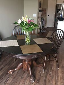 Espresso stained oak table