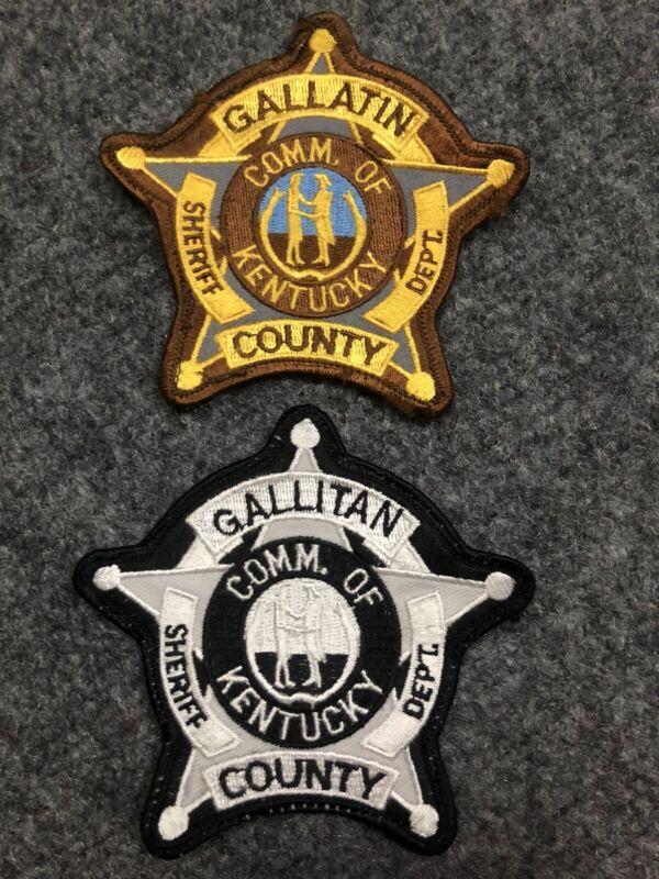 Gallatin County Sheriff police patch KY Kentucky Gallitan typo misprint error 2