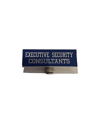 3 Badge Clip-on Executive Security Consultants Plastic Name Tag