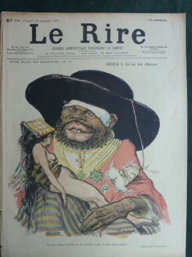 Le Rire French Humor Magazine 1897 #151 with Art Nouveau graphics -12 pg