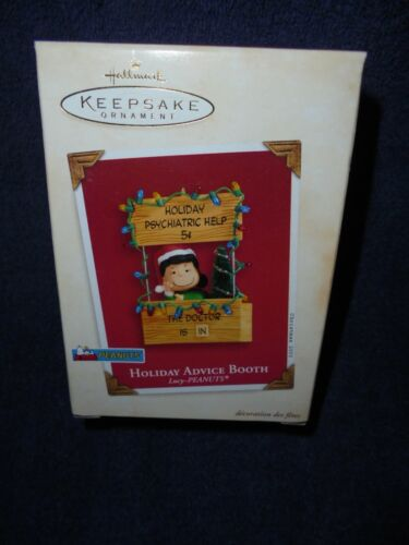 Hallmark: Holiday Advice Booth: Lucy-Peanuts Gang.