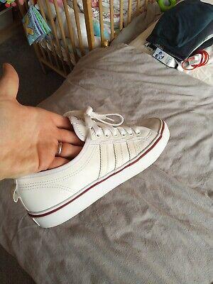 Adidas nizza size 8 / white leather