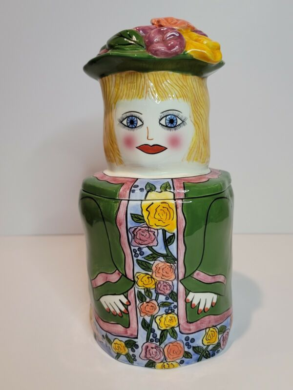 "Susan Paley Ganz Bella Casa ""Charlotte"" Canister Rare Collectible"