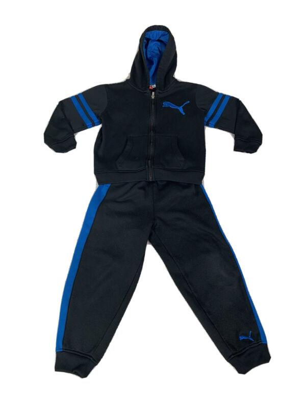 Boys Puma Jogger Sz 5 Running Jacket And Sweat Pants Combo Puma Black Track Suit