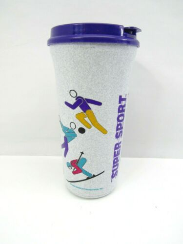 Vtg Whirley Travel Cup Super Sport Retro 46oz 1992 Workout Multi Tumbler New NOS