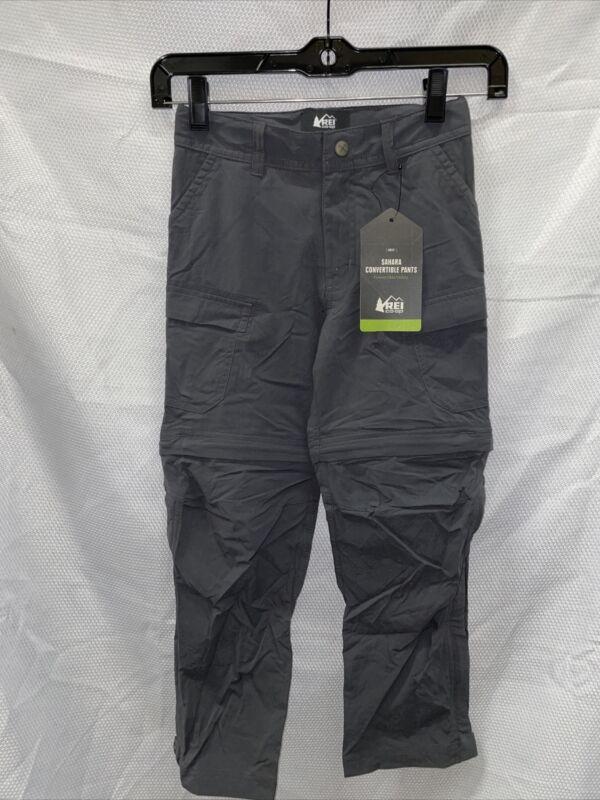 REI Sahara Convertible Pants - Asphalt - Boys XS (6-7)