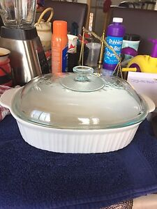 Corning ware French White casserole with lid