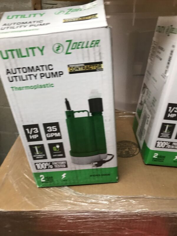 Zoeller 1043-0006 - 1/3 HP Automatic Thermoplastic Submersible Utility Sump Pump
