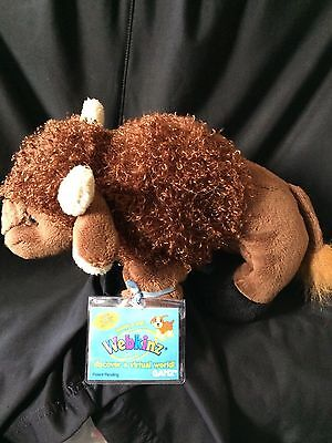 Webkinz Buffalo HM336 NEW with attached UNUSED code FREE Shipping!!!