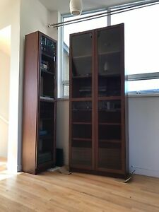 Two Billy book cases for sale