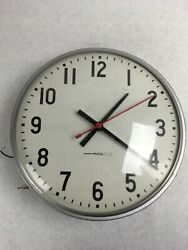 12 National Time Electric Wall Clock Surface Mount School/ Office