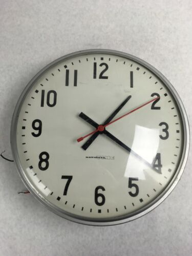 """12"""" National Time Electric Wall Clock Surface Mount School/ Office"""