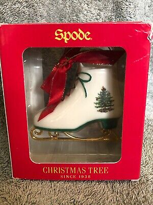 SPODE CHRISTMAS TREE Celebrating Traditions Ornaments ICE SKATE 3 in tall IOB Christmas Tree Ice