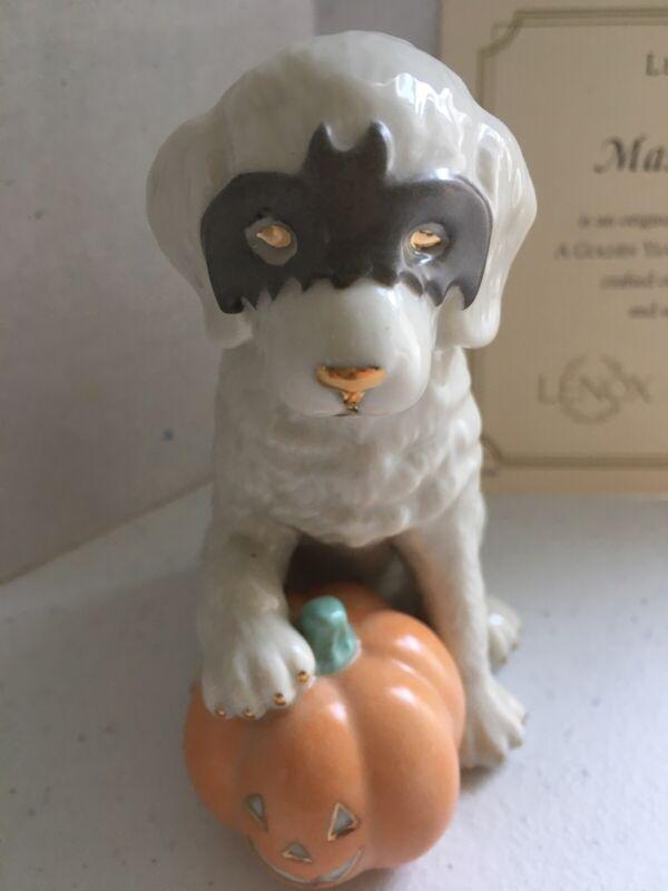Lenox Masquerade Golden Retriever Puppy Figurine