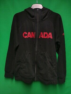 Adidas Sport Essentials Men's Black Zip Hoodie XL Climalite Canada Olympic