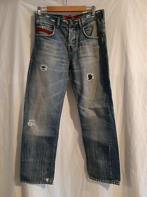 Mens Superdry distressed Denim Jeans Size W32 L34