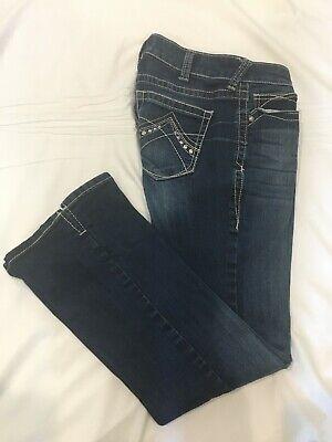 (*.*) ARIAT REAL DENIM * Womens Stretch Bootcut Blue Jeans / Denim * Size 29 S ()