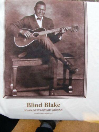 BLUES T-SHIRT: BLIND BLAKE King of Ragtime Guitar PARAMOUNT RECORDS photo XL