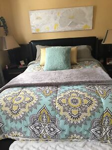 Comforter and pillows