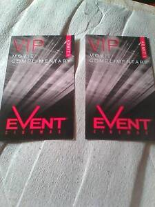 Double VIP movie tickets. Sturt Marion Area Preview