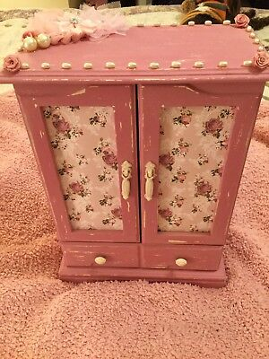 Hand in glove quickly Painted Shabby Chic Jewelry Box