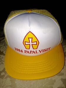 CAP FROM THE 1984 PAPAL VISIT OF POPE JOHN PAUL II TO ONTARIO