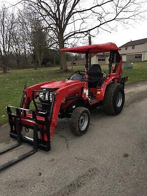 Universal Mahindra Massey Branson 45w X 60l Tractor Canopy Red Polyethylene