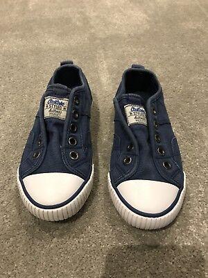 F&F Slip On Canvas Shoes Kids 10/11 Vgc