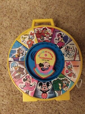 Vintage 1988 Disney See N Say Wonderful World of Color Pull String Toy by Mattel
