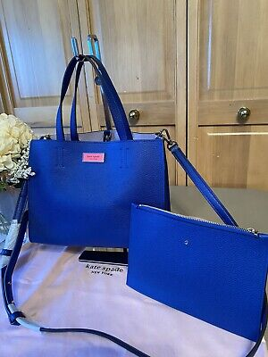 KATE SPADE NEW YORK Small/Mini Satchel/Tote Crossbody Handbag-Caribbean Blue NEW