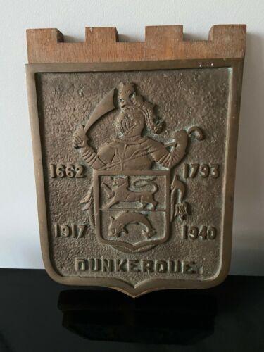 Genuine Dunkerque Cast Iron Plaque